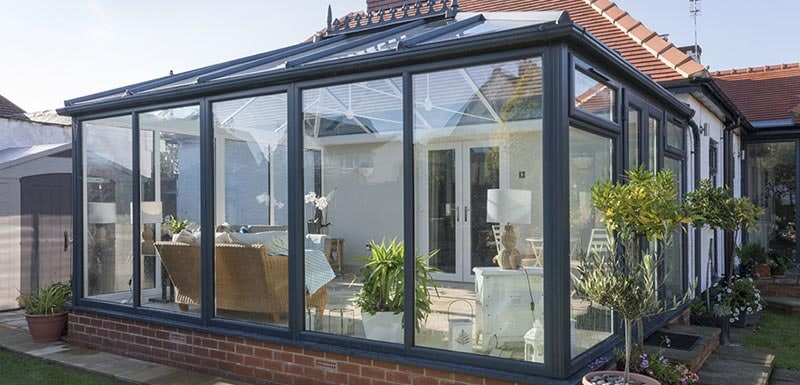 1st Choice Windows NE Dark Frame Conservatory - 1st Choice Windows