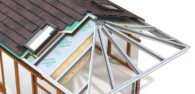 1st Choice Windows NE Guardian Warm Roof Illustration